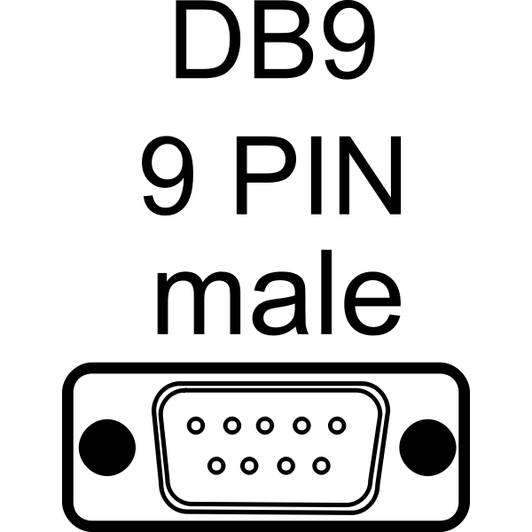 DB9-Male port vector illustration