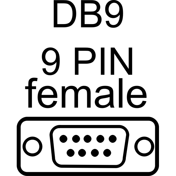 DB9-female port vector drawing