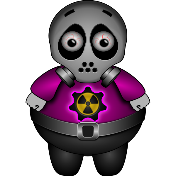 Vector illustration of nuclear man
