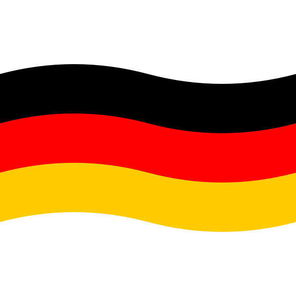 Flag of Germany vector graphics