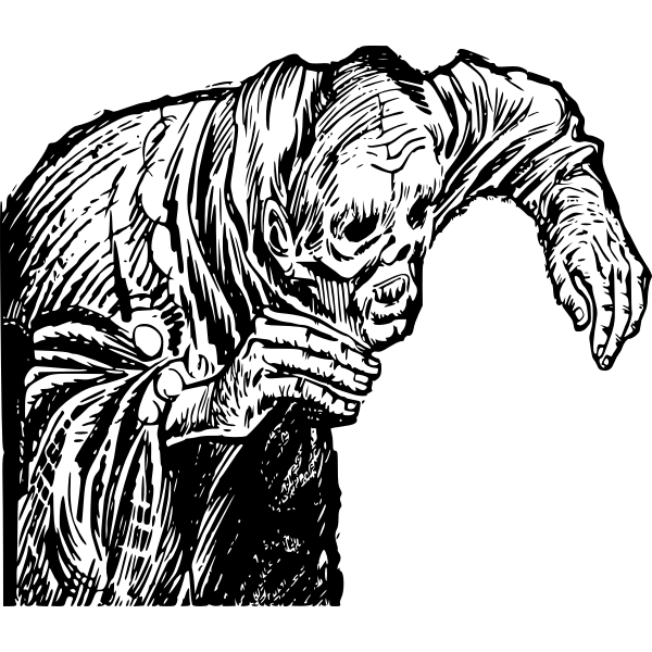Vector drawing of death walker