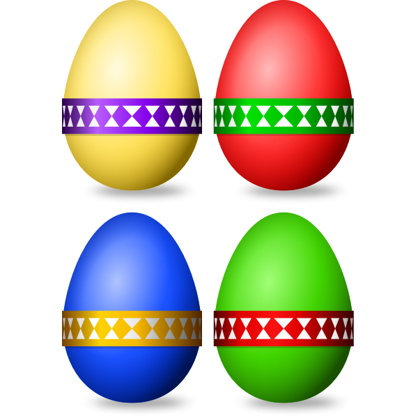 Decorated Easter eggs selection vector image