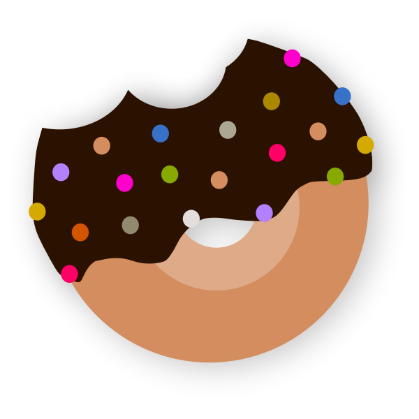 delicious donut with chocolate