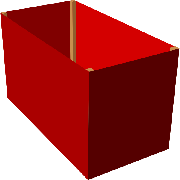 Red box 3d clip art
