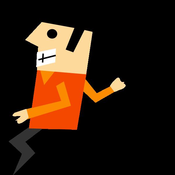 Designer comic character vector image