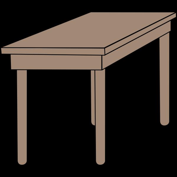 Student desk vector image