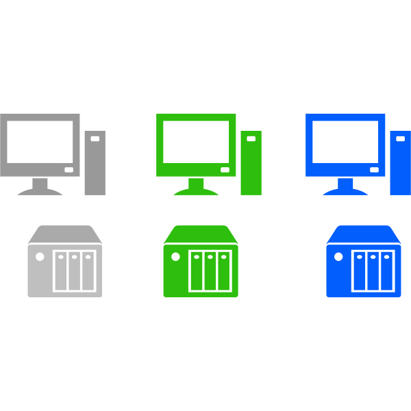 Desktops and servers vector image