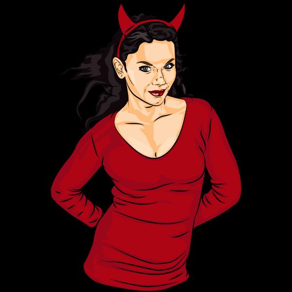 Devilish lady image