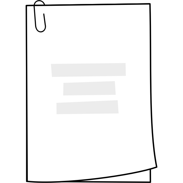Vector clip art of homework