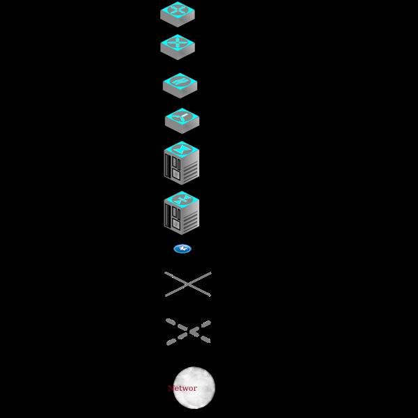 Vector illustration of dex-infastructure