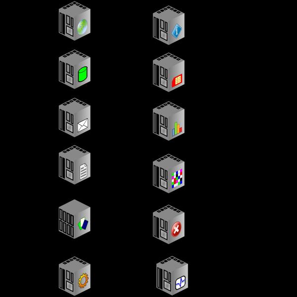 DEX servers vector drawing