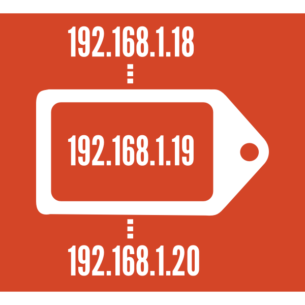 DHCP symbol label vector image