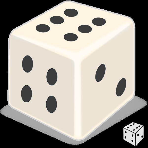 Vector illustration of shiny dice