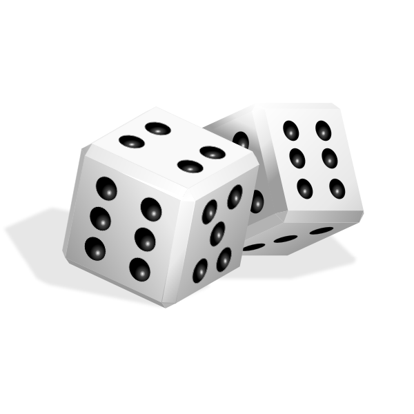 Vector clip art of game playing dice