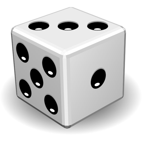 Vector image of game dice close-up
