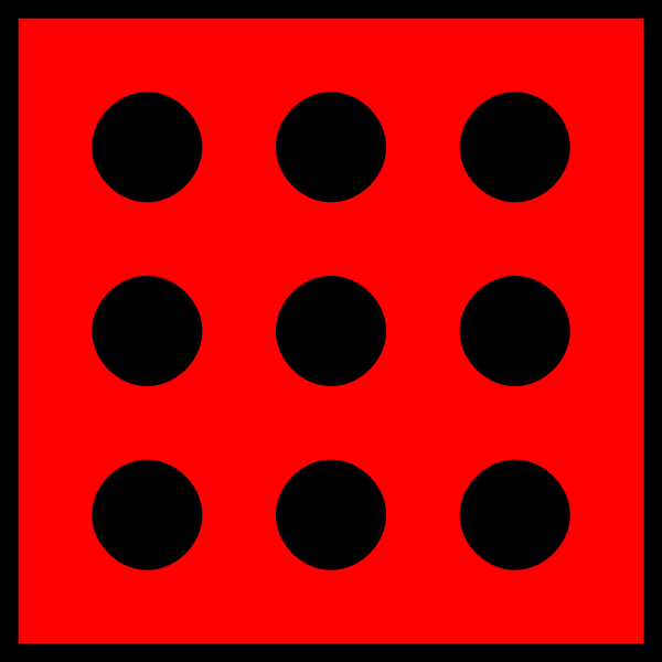 Vector image of red spotty dice