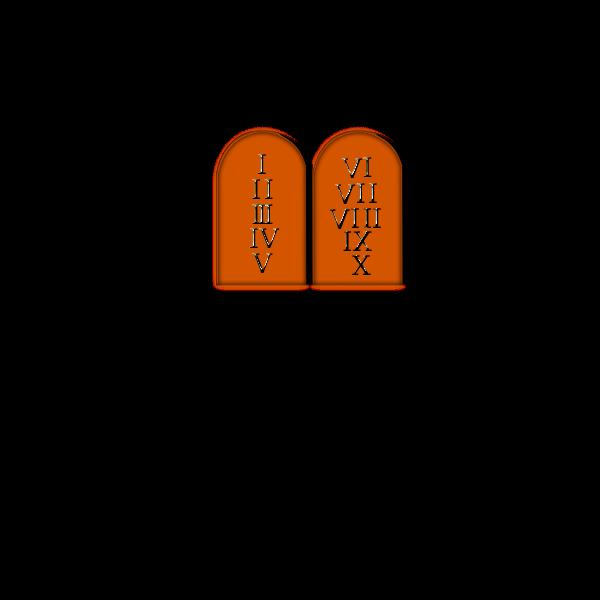 Ten Commandments vector clip art