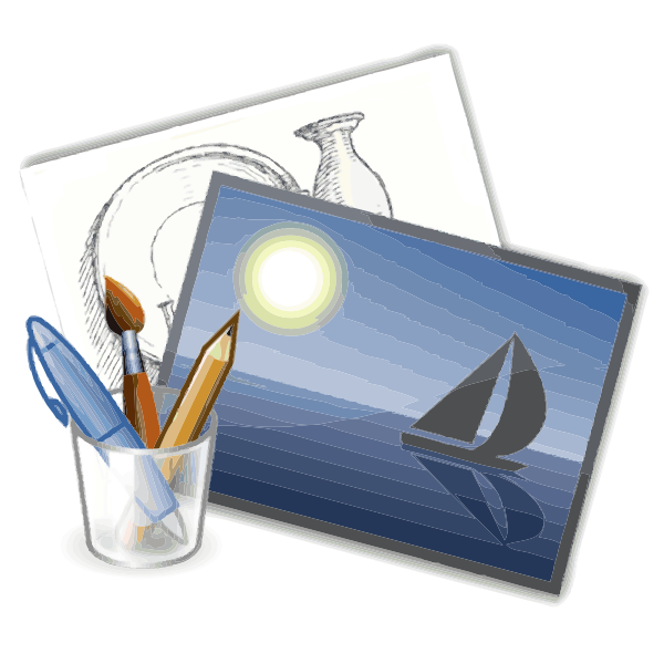 Painting and drawing vector illustration