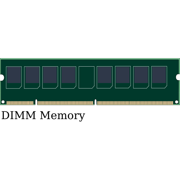 Vector graphics of DIMM computer memory module