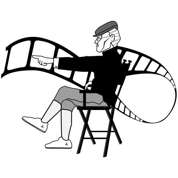 Movie director vector image