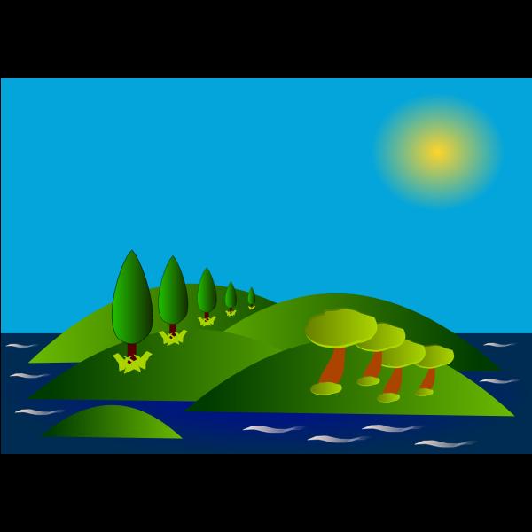 Vector portrait of Elba island