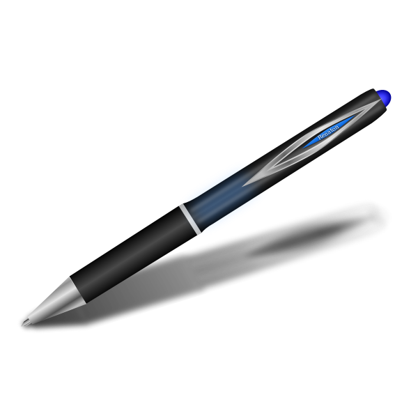 Blue pen vector image