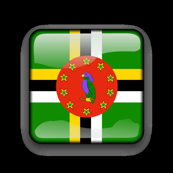 Dominica flag vector button