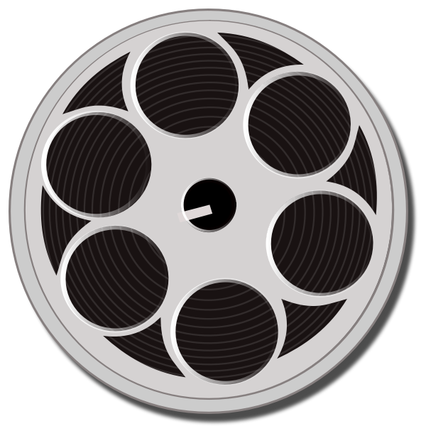 Film reel vector drawing