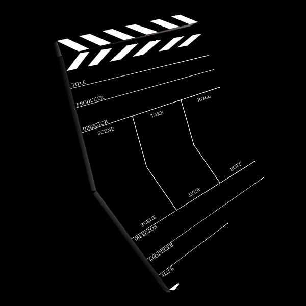 Movie scene slate vector image