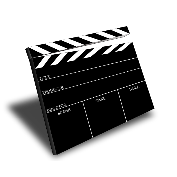 Scene slate vector image