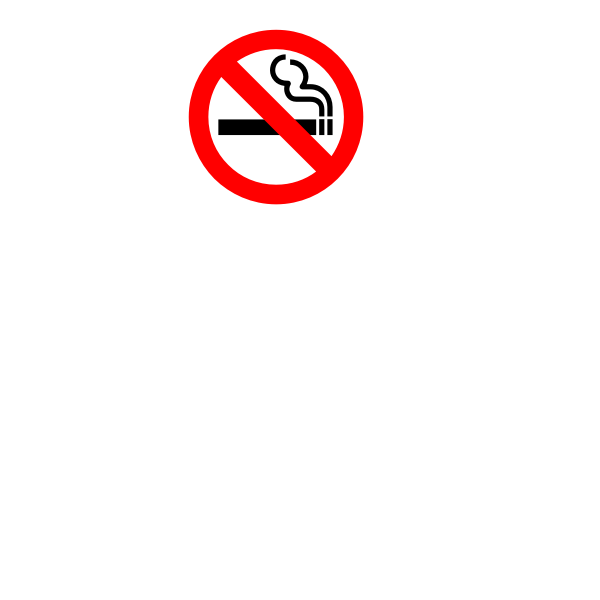 No smoking sign vector graphics