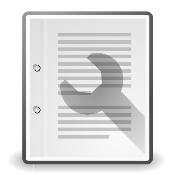 Vector clip art of document properties computer OS icon