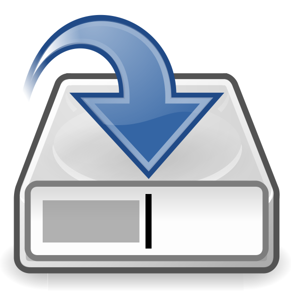 Save to disk computer OS icon vector drawing