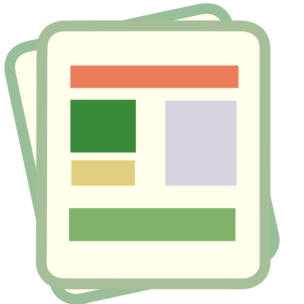 Pastel colored smartphone icon for finance document vector image