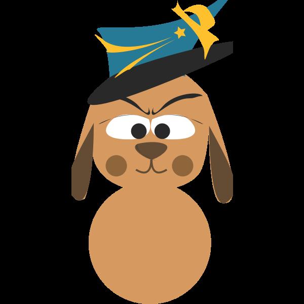 Dog avatar vector icon