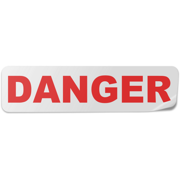 Danger label vector image