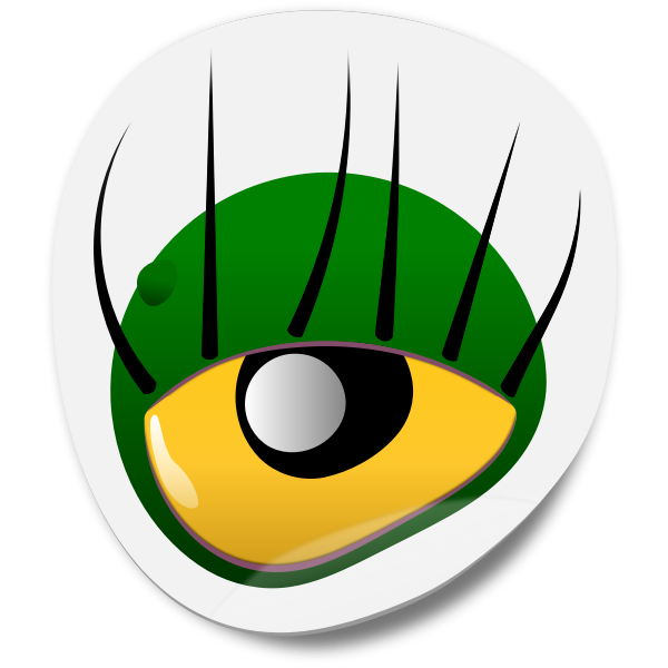 Monster eye sticker vector clip art