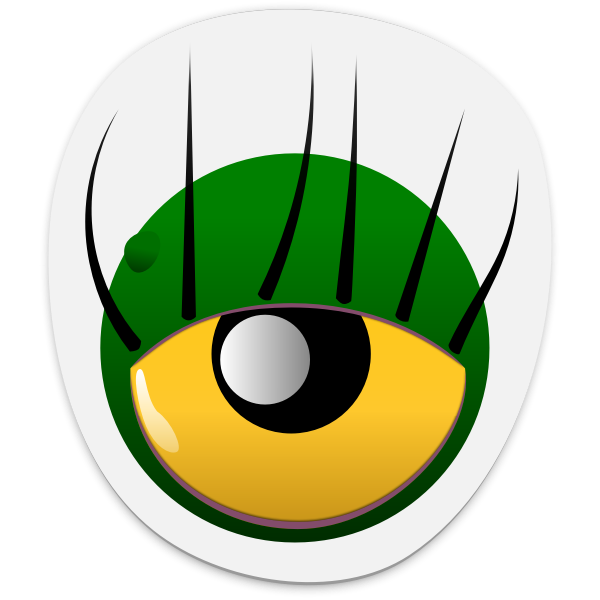 Monster eye sticker vector image