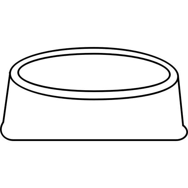 Vector drawing of dog plate