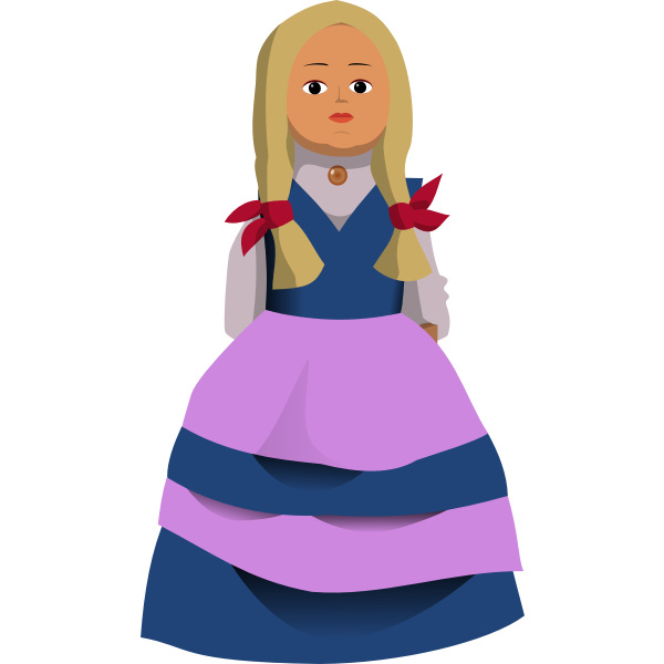 Doll vector clip art