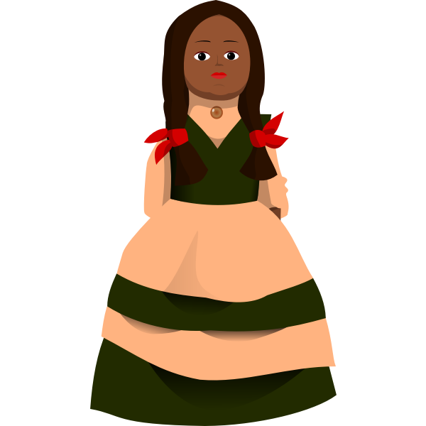 Doll vector image