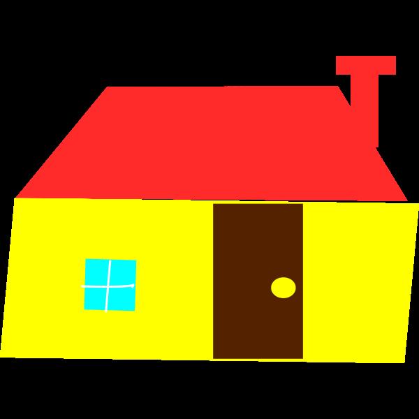 Yellow house vector clip art
