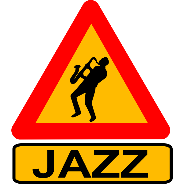 Warning sign jazz player vector image