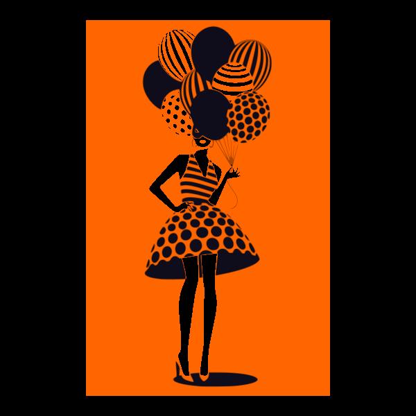 donna con palloncini 10