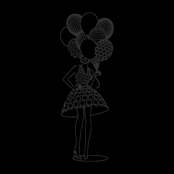 donna con palloncini 3