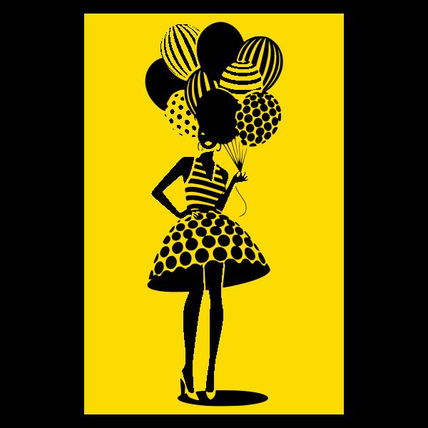 donna con palloncini 5