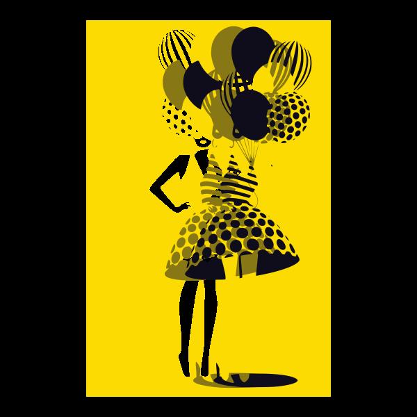 donna con palloncini 6