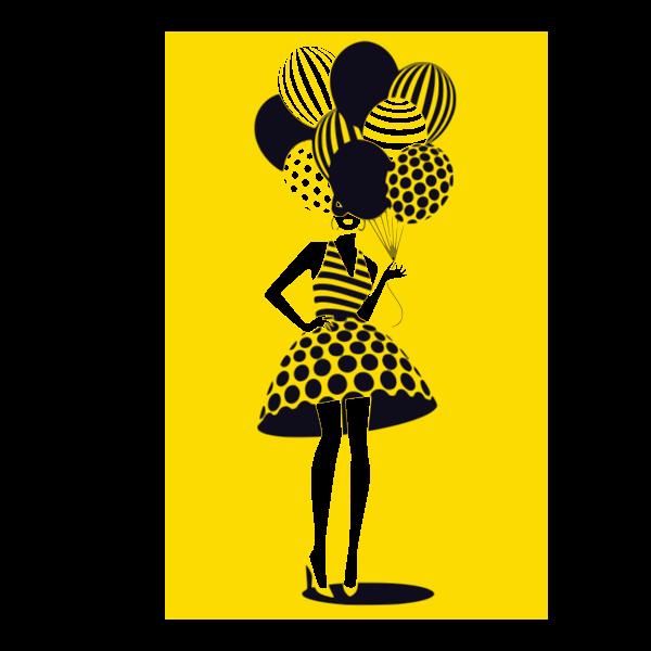 donna con palloncini 7