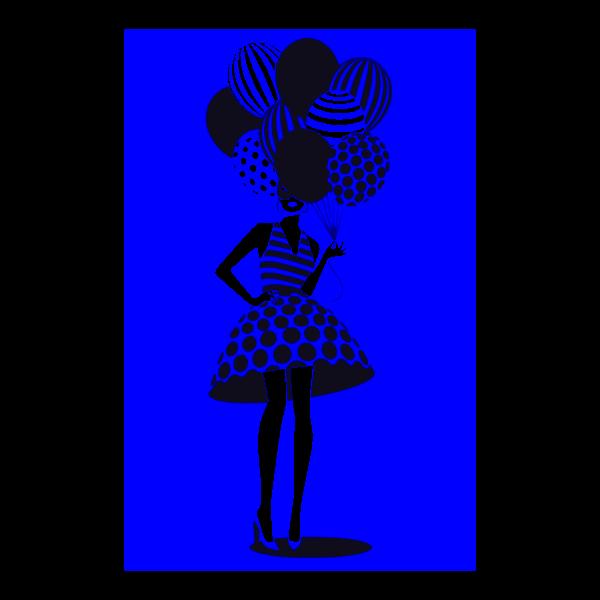 donna con palloncini 8
