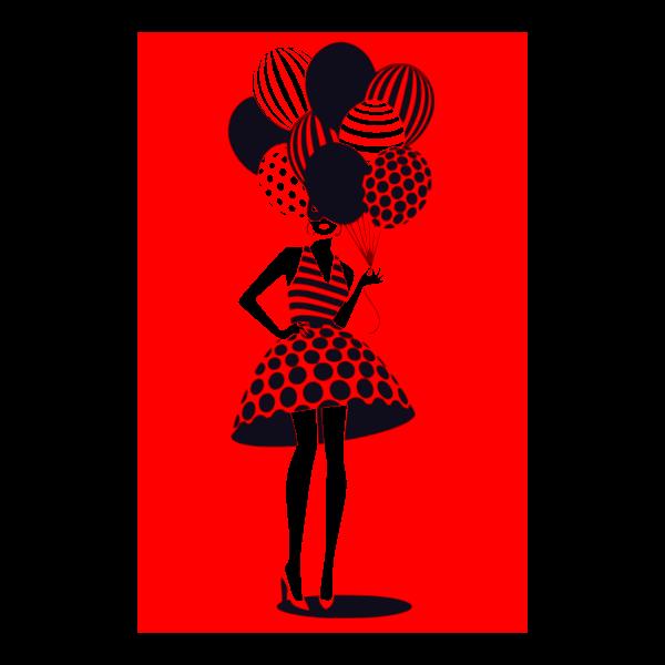 donna con palloncini 9
